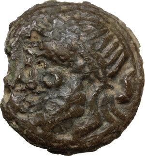 obverse: Post-semilibral series.AE Cast Semis, c.215-212 BC