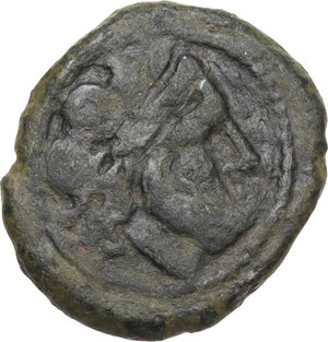 obverse: Anonymous. AE (debased AR?) Victoriatus, after 218 BC