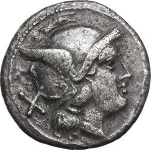 obverse: Anonymous. AR Denarius, after 211 BC