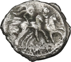 reverse: Anonymous. AR Sestertius, from 211 BC. D/ R/ Cr. 44/7. AR. g. 1.03 mm. 14.00 VF/About VF