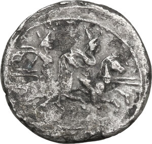 reverse: Anonymous. Fourrée Denarius, 179-170 BC