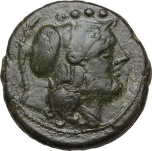 obverse: Sextantal series.AE Triens, after 211 BC
