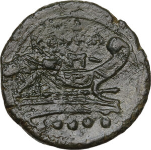 reverse: Sextantal series.AE Triens, after 211 BC