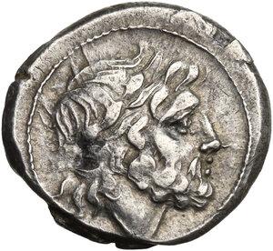 obverse: Anonymous. AR Victoriatus, 211-208 BC, Sicily (?)