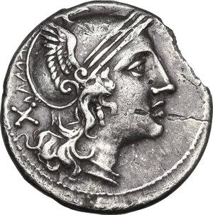 obverse: Corn-ear (third) series.AR Denarius, Sicily, c. 211-210 BC