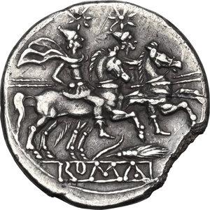 reverse: Corn-ear (third) series.AR Denarius, Sicily, c. 211-210 BC
