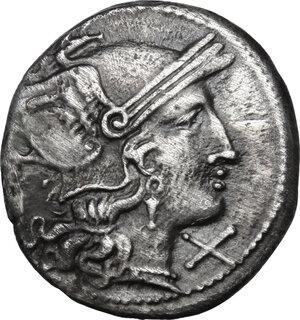 obverse: Branch series. AR Denarius, c. 209-208 BC
