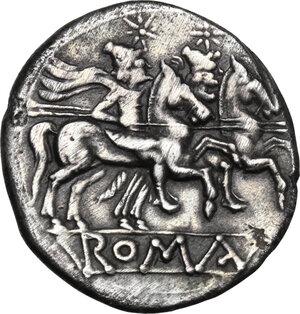 reverse: Branch series. AR Denarius, c. 209-208 BC
