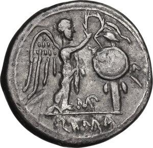 reverse: MP series.AR Victoriatus, c. 211-208 BC