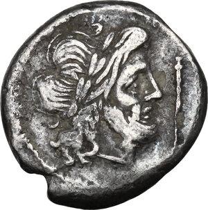 obverse: Staff series.AR Victoriatus, 206-195 BC