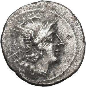 obverse: Trident series.AR Denarius, circa 206-195 BC