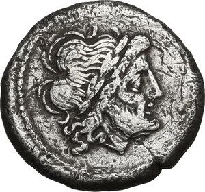 obverse: Sow series. AR Victoriatus, circa 206-195 BC