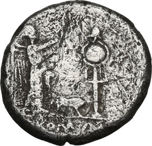 reverse: Sow series. AR Victoriatus, circa 206-195 BC