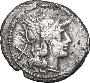 obverse: Crescent (second) series.AR Denarius, c. 194-190 BC