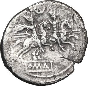 reverse: Crescent (second) series.AR Denarius, c. 194-190 BC
