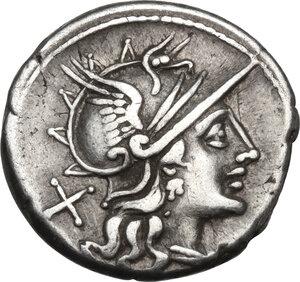 obverse: C. Iunius C.f.AR Denarius, 149 BC