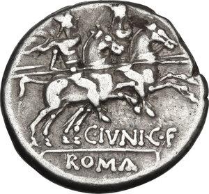 reverse: C. Iunius C.f.AR Denarius, 149 BC