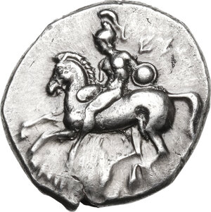 obverse: Southern Apulia, Tarentum. AR Stater, c. 302-280 BC