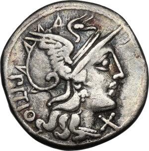 obverse: L. Sempronius Pitio. AR Denarius, 148 BC