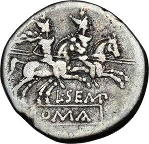 reverse: L. Sempronius Pitio. AR Denarius, 148 BC