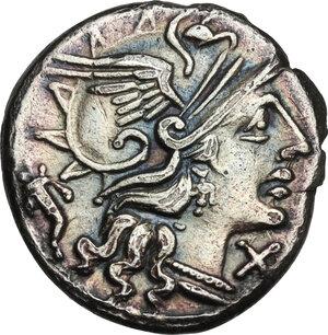 obverse: L. Cupiennius.AR Denarius, 147 BC