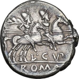 reverse: L. Cupiennius.AR Denarius, 147 BC