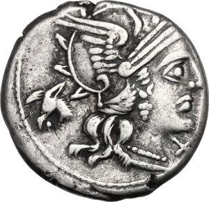 obverse: M. Iunius Silanus.AR Denarius, 145 BC