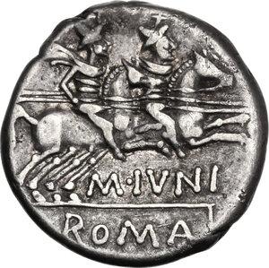 reverse: M. Iunius Silanus.AR Denarius, 145 BC