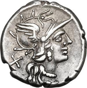 obverse: Anonymous.AR Denarius, 143 BC