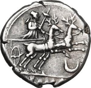 reverse: Anonymous.AR Denarius, 143 BC