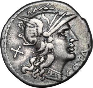 obverse: M. Aurelius Cotta.AR Denarius, 139 BC
