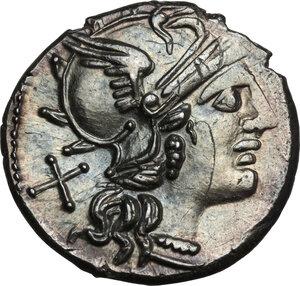 obverse: P. Aelius Paetus.AR Denarius, 138 BC