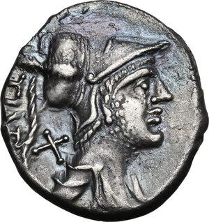 obverse: Ti. Veturius.AR Denarius, 137 BC