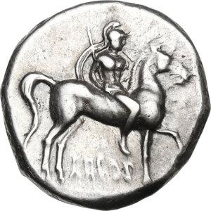 obverse: Southern Apulia, Tarentum. AR Stater, c. 281-240 BC