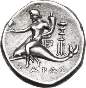 reverse: Southern Apulia, Tarentum. AR Stater, c. 281-240 BC