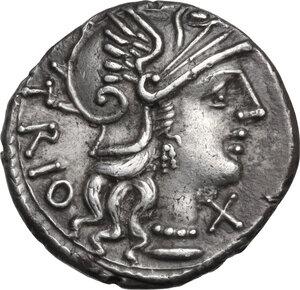 obverse: Cn. Lucretius Trio. AR Denarius, 136 BC