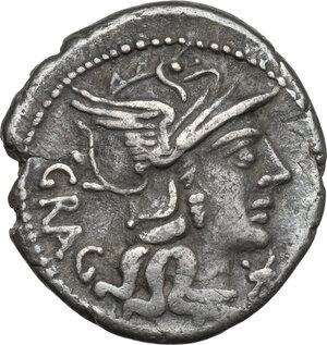 obverse: L. Antestius Gragulus.AR Denarius, 136 BC