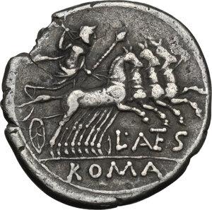 reverse: L. Antestius Gragulus.AR Denarius, 136 BC