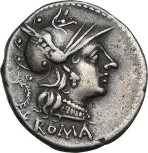 obverse: C. Servilius M.f.AR Denarius, 136 BC