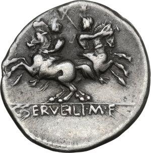 reverse: C. Servilius M.f.AR Denarius, 136 BC