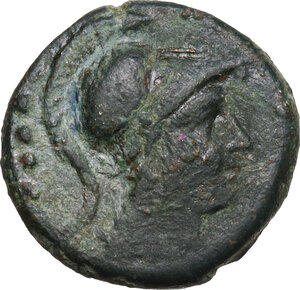 obverse: C. Servilius M.f.AE Triens, 136 BC