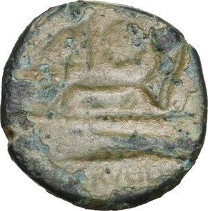 reverse: C. Servilius M.f.AE Triens, 136 BC