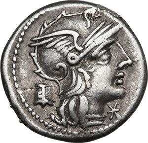 obverse: M. Marcius Mn. f.AR Denarius, 134 BC