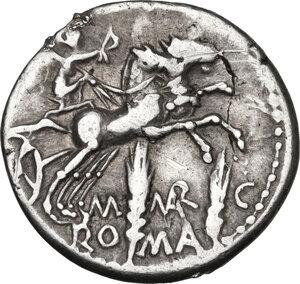 reverse: M. Marcius Mn. f.AR Denarius, 134 BC