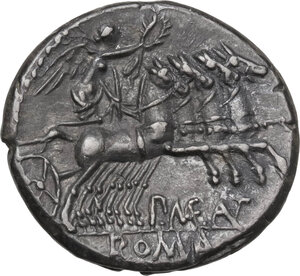 reverse: P. Maenius Antiaticus M. f. AR Denarius, 132 BC