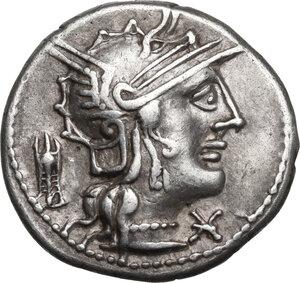 obverse: M. Opimius.AR Denarius, 131 BC
