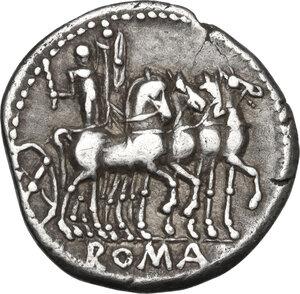 reverse: M. Acilius M.f.AR Denarius, 130 BC