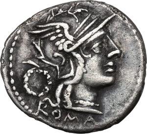 obverse: T. Cloelius.AR Denarius, 128 BC