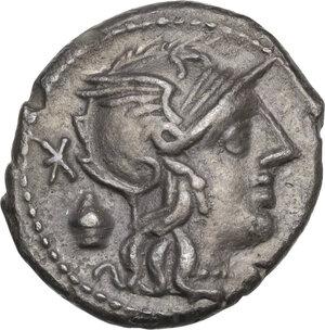 obverse: C. Cassius.AR Denarius, 126 BC