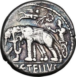 reverse: C. Caecilius Metellus Caprarius.AR Denarius, 125 BC